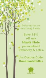 Haute Note - Handmade Hellos Coupon Code